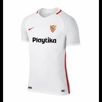 18-19 Sevilla Home White Soccer Jersey Shirt