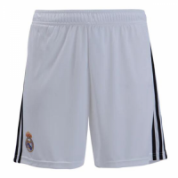 18-19 Real Madrid Home White Soccer Jersey Short