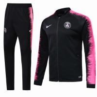 18-19 PSG Black&Pink V-Neck Training Kit(Jacket+Trousers)