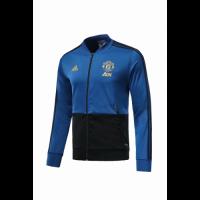 18-19 Mancehster United Blue&Black V-Neck Track Jacket