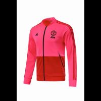 18-19 Mancehster United Pink&Red V-Neck Track Jacket