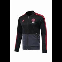 18-19 Mancehster United Black&Gray V-Neck Track Jacket