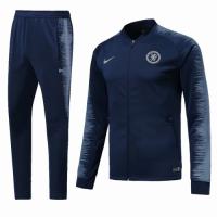 18-19 Chelsea Navy&Gray V-Neck Training Kit(Jacket+Trousers)