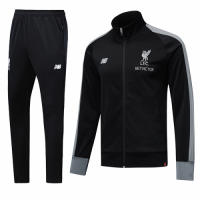 18-19 Liverpool Black High Neck Collar Training Kit(Jacket+Trouser)