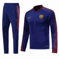 18-19 Barcelona Navy&Red V-Neck Training Kit(Jacket+Trouser)