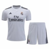 18-19 Real Madrid Home White Soccer Jersey Kit(Shirt+Short)