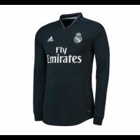 18-19 Real Madrid Away Dark Green Long Sleeve Jersey Shirt