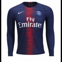 18-19 PSG Home Long Sleeve Soccer Jersey Shirt