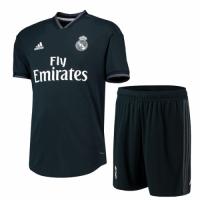 18-19 Real Madrid Away Deep Green Soccer Jersey(Shirt+Short)