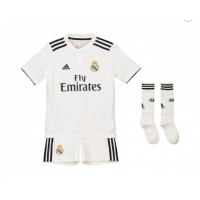 18-19 Real Madrid Home Children's Jersey Whole Kit(Shirt+Short)
