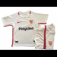 18-19 Sevilla Home White Children's Jersey Kit(Shirt+Short)