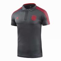 18-19 Bayern Munich Core Polo Shirt-Deep Gray