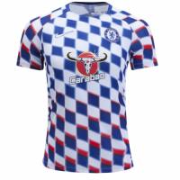 18-19 Chelsea White&Blue Pre-Match Training Shirt
