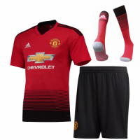 18-19 Manchester United Home Jersey Whole Kit(Shirt+Short+Socks)