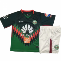 18-19 Club America Fourth Away Green Children's Jersey Kit(Shirt+Short)