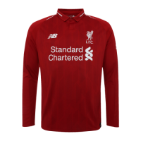 18-19 Liverpool Home Long Sleeve Jersey Shirt