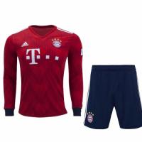 18-19 Bayern Munich Home Long Sleeve Jersey Kit(Shirt+Short)