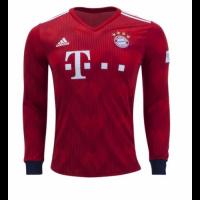 18-19 Bayern Munich Home Long Sleeve Jersey Shirt