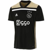 18-19 Ajax Away Black Soccer Jersey Shirt