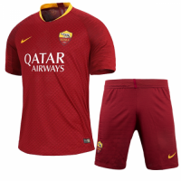 18-19 Roma Home Player Version Soccer Jersey Kit(Shirt+Short)