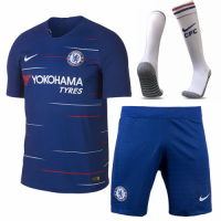 18-19 Chelsea Home Player Version Soccer Jersey Whole Kit(Shirt+Short+Socks)