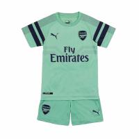 18-19 Arsenal Third Away Green Children's Jersey Kit(Shirt+Short)
