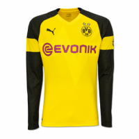 18-19 Borussia Dortmund Home Long Sleeve Jersey Shirt