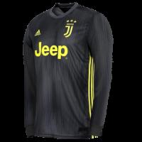18-19 Juventus Third Away Black Long Sleeve Soccer Jersey Shirt