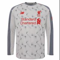 18-19 Liverpool Third Away Light Grey White Long Sleeve Jersey Shirt