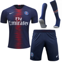 18-19 PSG Home Soccer Jersey Whole Kit(Shirt+Short+Socks)
