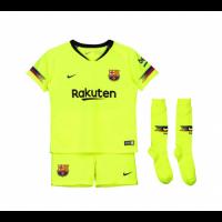 18-19 Barcelona Away Green Children's Jersey Whole Kit(Shirt+Short+Socks)