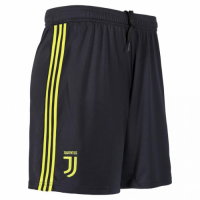 18-19 Juventus Third Away Black Soccer Jersey Short