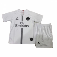 18-19 PSG JORDAN 3rd Away White Children's Jersey Kit(Shirt+Short)