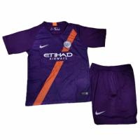 18-19 Manchester City Third Away Children's Jersey Kit(Shirt+Short)