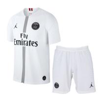 18-19 PSG JORDAN 3rd Away White Soccer Jersey Kit(Shirt+Short)