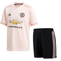 18-19 Manchester United Away Pink Jersey Kit(Shirt+Short)