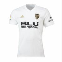 18-19 Valencia Home White Soccer Jersey Shirt