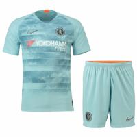 18-19 Chelsea Third Away Gray Soccer Soccer Jersey Kit(Shirt+Short)
