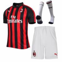 18-19 AC Milan Home Soccer Jersey Kit(Shirt+Short+Sock)