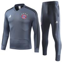 18-19 Bayern Munich Gray Sweat Shirt Kit(Top+Trouser)