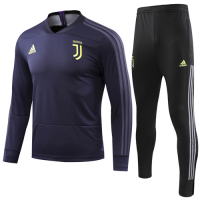 18-19 Juventus Navy Sweat Shirt Kit(Top+Trouser)