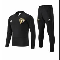 18-19 Sao Paulo Black Sweat Shirt Kit(Top+Trouser)