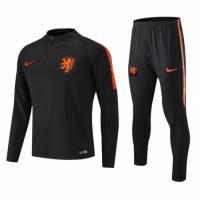 18-19 Netherlands Zipper Sweat Shirt Kit(Top+Trouser)