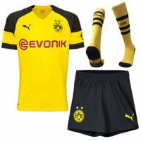 18-19 Borussia Dortmund Home Soccer Jersey Whole Kit(Shirt+Short+Socks)