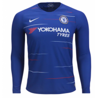 18-19 Chelsea Home Navy Long Sleeve Jersey Shirt