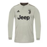 18-19 Juventus Away Gray Long Sleeve Soccer Jersey Shirt