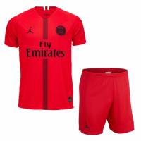 18-19 PSG JORDAN Goalkeeper Red Soccer Jersey Kit(Shirt+Short)