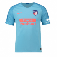 18-19 Atletico Madrid Away Blue Soccer Jersey Shirt