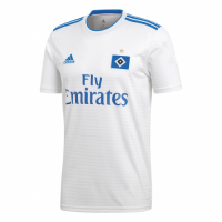 18-19 Hamburg Home White Soccer Jersey Shirt