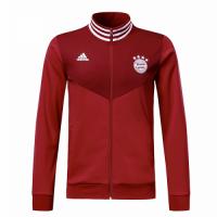 18-19 Bayern Munich Red High Neck Collar Track Jacket